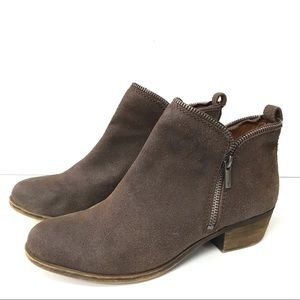 Lucky Brand 'Bartalino' Bootie Boots-Brown-Size 9